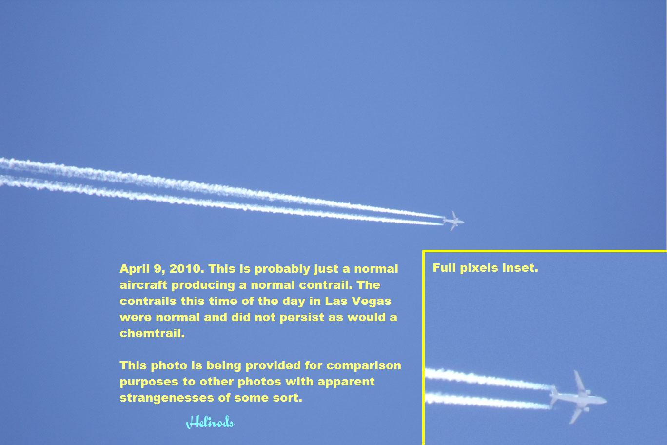 A typical contrail